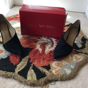 Enzo Angiolini Black Suede Heels